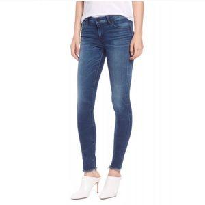 Hudson Ankle Krista Super Skinny Raw Hem Jeans 30